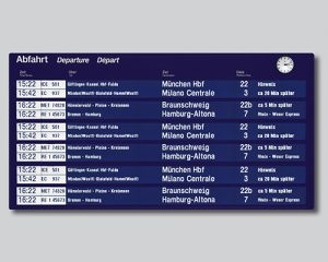 Large Panels for arrival and departure times