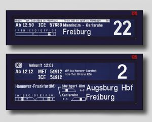 Destination displays for platforms