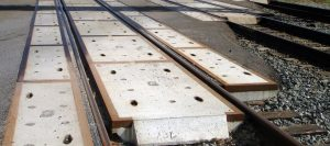 Concrete crossing panels